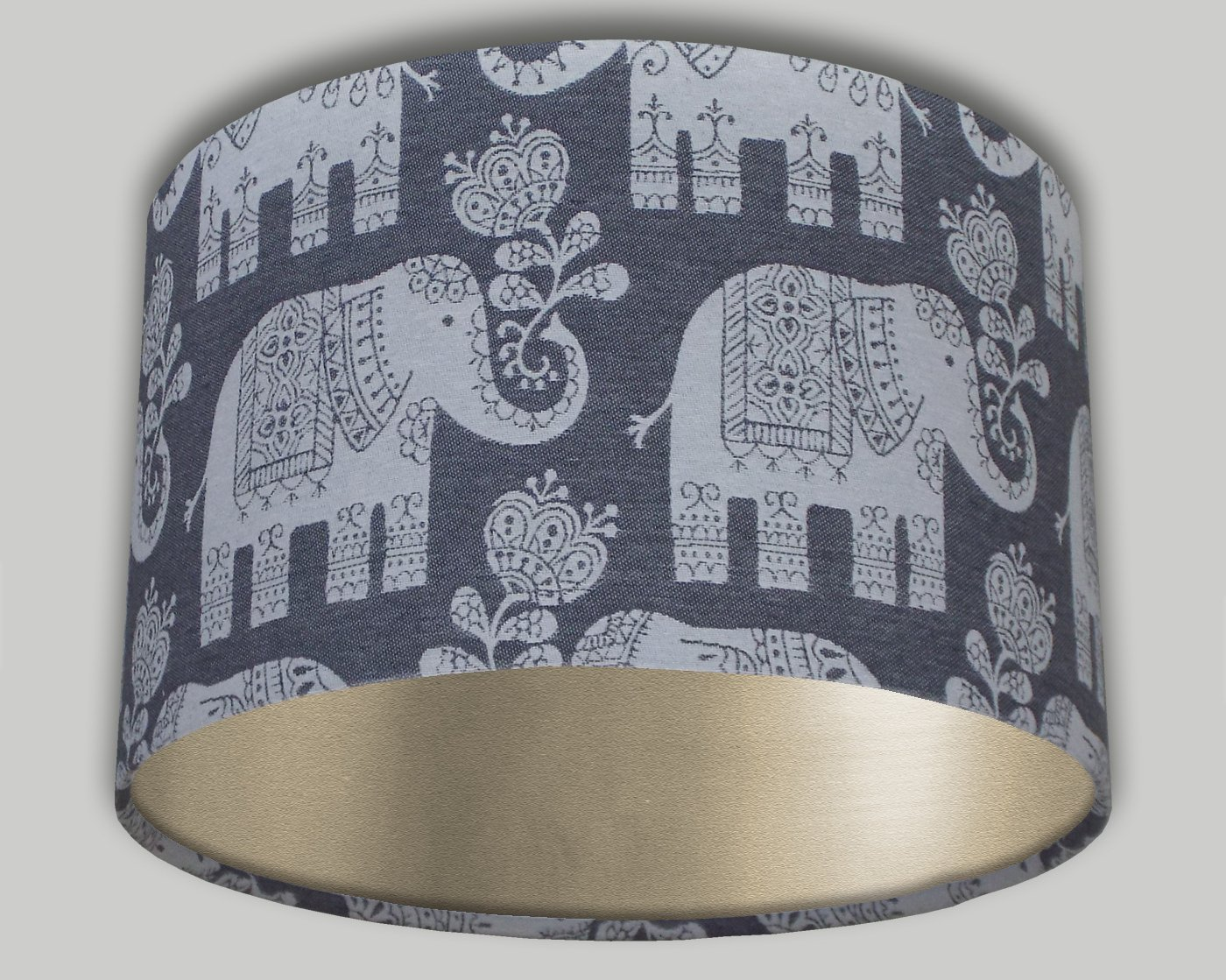 Grey White Elephant Drum Lampshade Champagne Inner 20cm 25cm 30cm 35cm 40cm Lamp Shade Lightshade