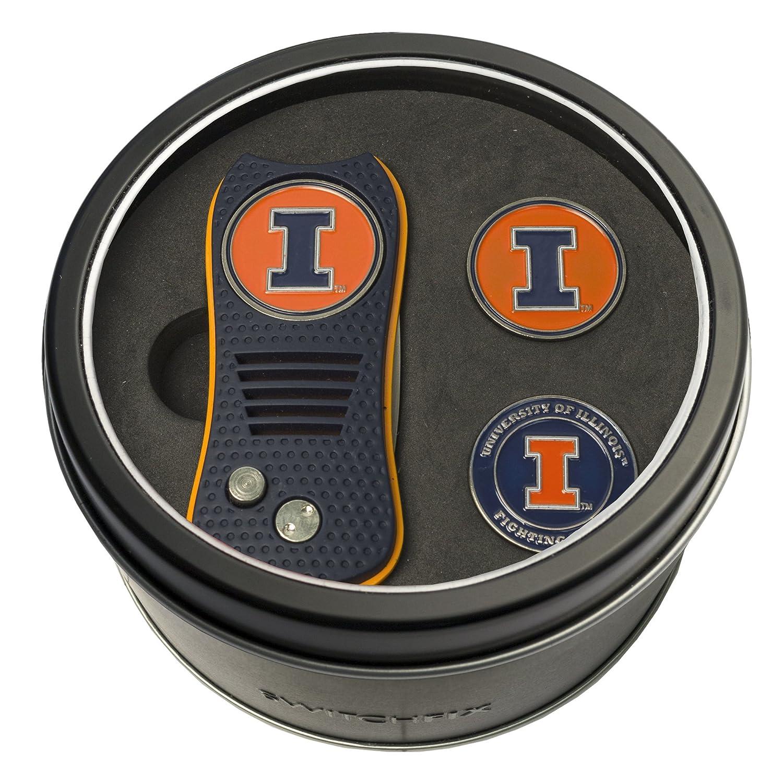 NCAA Tinギフトセットwith switchfix Divot Tool and 2ボールマーカー B06XX5RN5Q Syracuse Orange