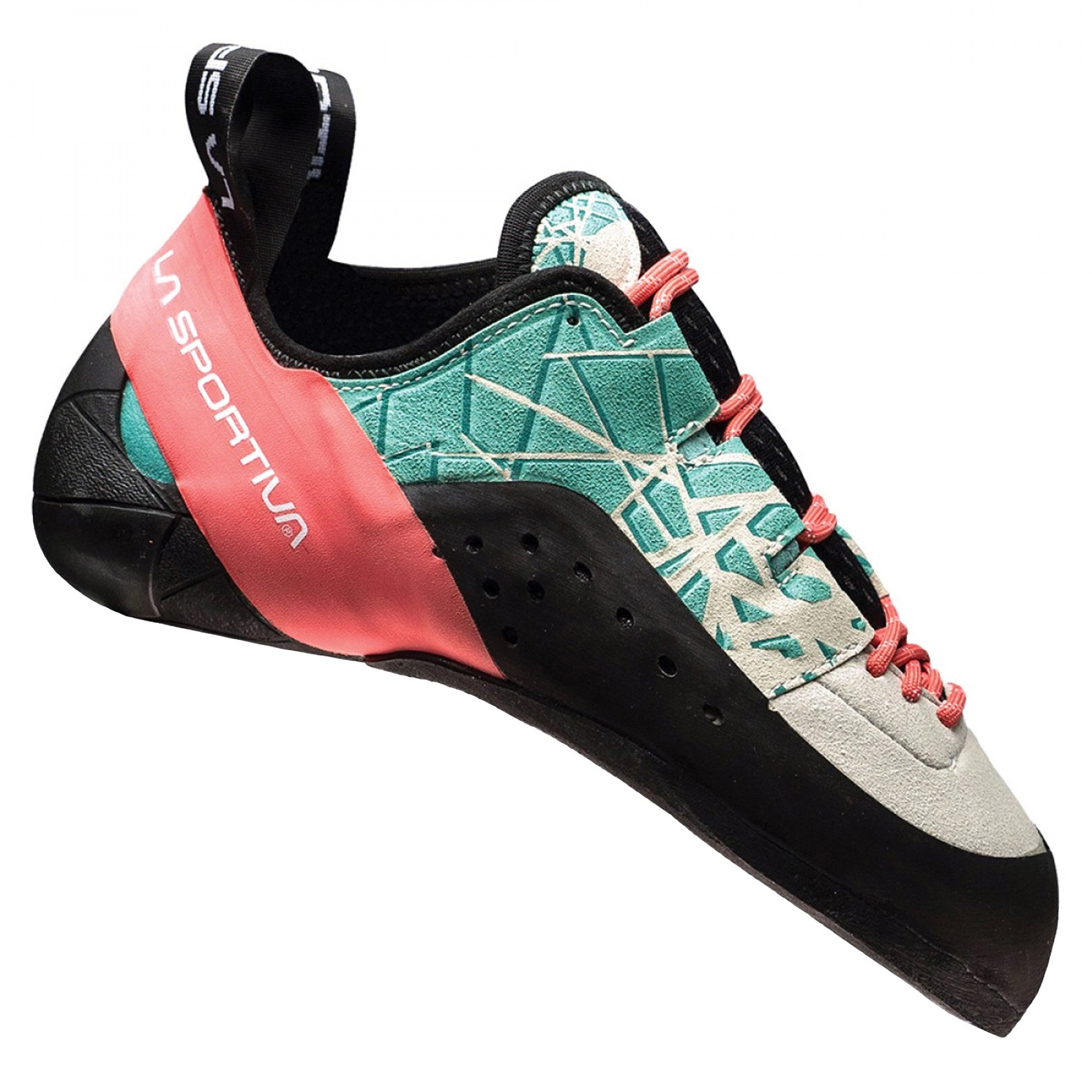 La Sportiva Kataki Climbing Shoe - Women's, Mint/Coral, 35.5 by La Sportiva