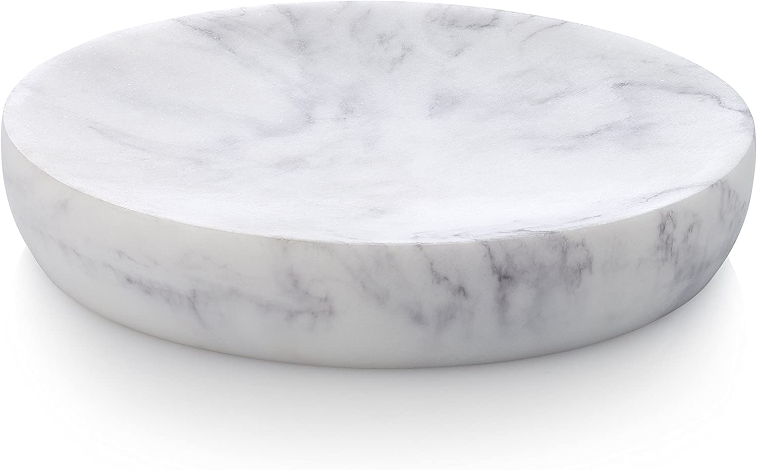 EssentraHome Blanc Collection White Soap, Sponge Dish Tray for Bathroom or Shower Also Great for Kitchen