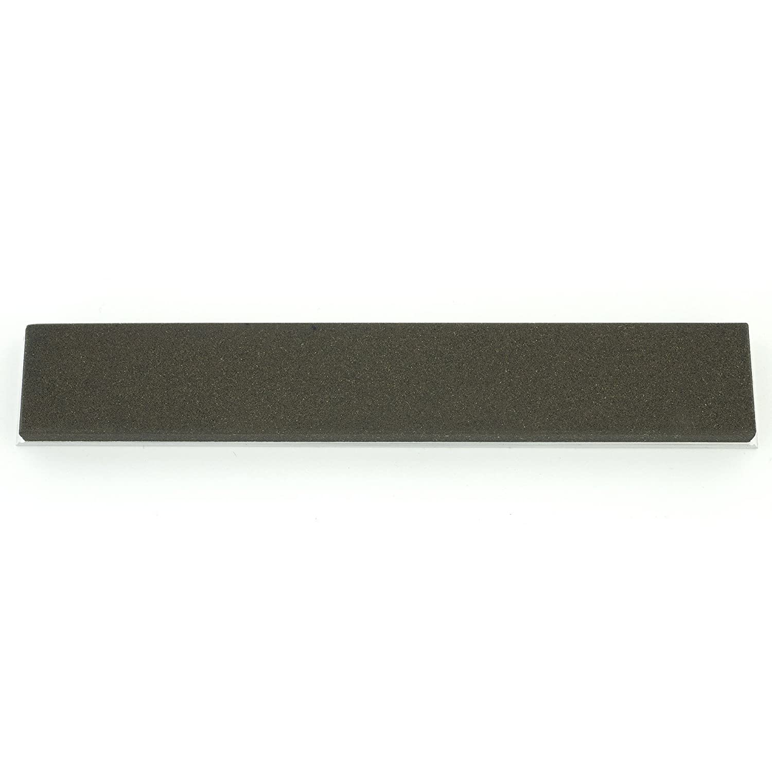 India Coarse 6 x 1 x 0.25 Sharpening Oilstone with Aluminum Mounting for Edge Pro Gritomatic