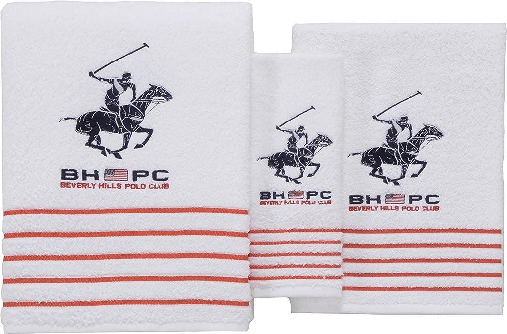 Beverly Hills Polo Club Set de 3 Toallas California Blanco Unica ...
