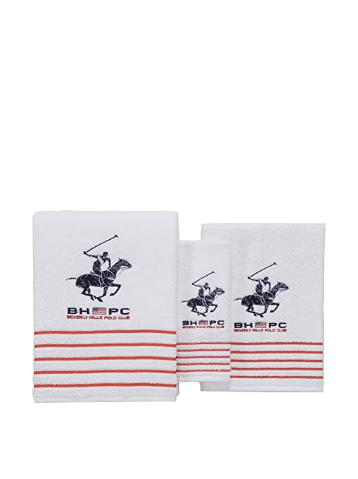 Beverly Hills Polo Club Set de 3 Toallas California blanco Unica
