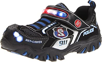 componente Coherente dueño  Buy Skechers Kids 90348L Damager Police II Light-Up Sneaker, Black/Royal,  11 M US Little Kid at Amazon.in