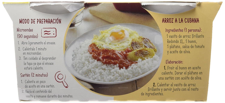 Brillante Plato Preparado. Arroz Redondo Tradicional XL - Pack de 2 x 200 g - Total: 400 g: Amazon.es: Amazon Pantry