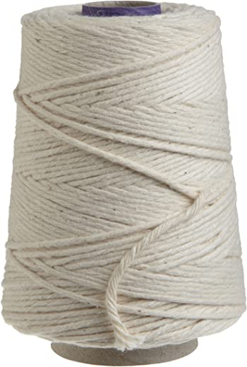Regency Wraps Natural Cooking Twine 1/2 Cone 100% Cotton 500ft