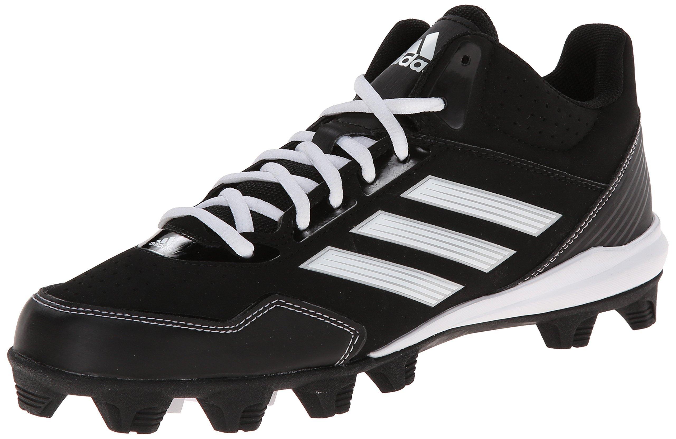 adidas Performance Men's Wheelhouse Mid Baseball Cleat, Core Black/Running White/Metallic/Silver, 8 M US by adidas