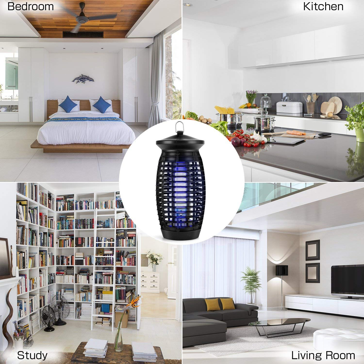 Xvolt Bug Electric Fly Trap Indoor Mosquito Zapper,500sq.ft.Coverage