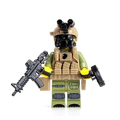 Battle Brick Marine Expeditionary Unit (MEU) Visit Board Search Seizure(SKU42) Custom Minifigure: Toys & Games