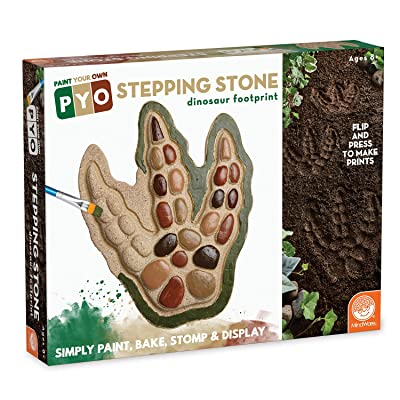 MindWare Paint Your Own Stepping Stone: Dinosaur Footprint: Toys & Games