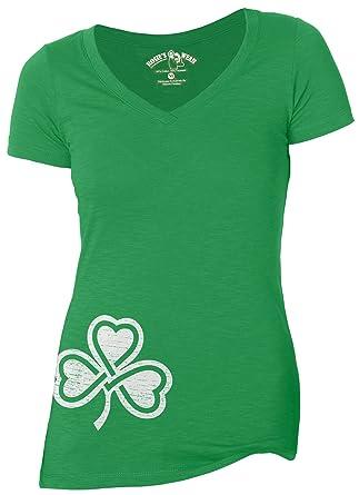 IrishWholesale Shamrock Women's V-Neck T-Shirt at Amazon Women's ...