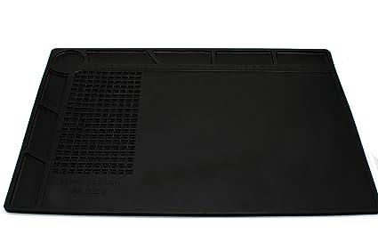 COHK Diseño 35x25cm Aislamiento térmico Pie de silicona BGA eléctrica Soldadura Plataforma de mantenimiento de la