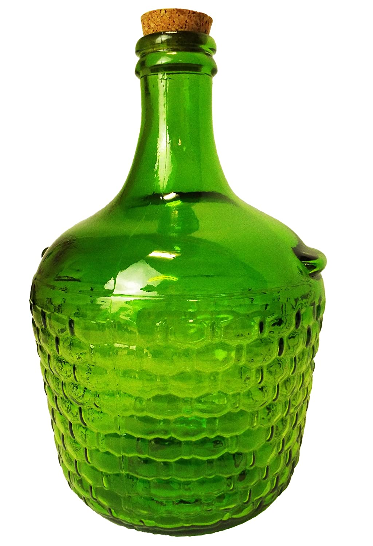 País estilo mochila Darkgreen damajuana/tarro de cristal con tapón de corcho para vino Making: Amazon.es: Hogar