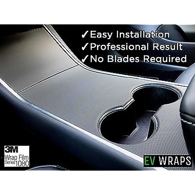 EV Wraps Tesla Model 3 / Model Y Center Console Wrap - Matrix Black: Automotive