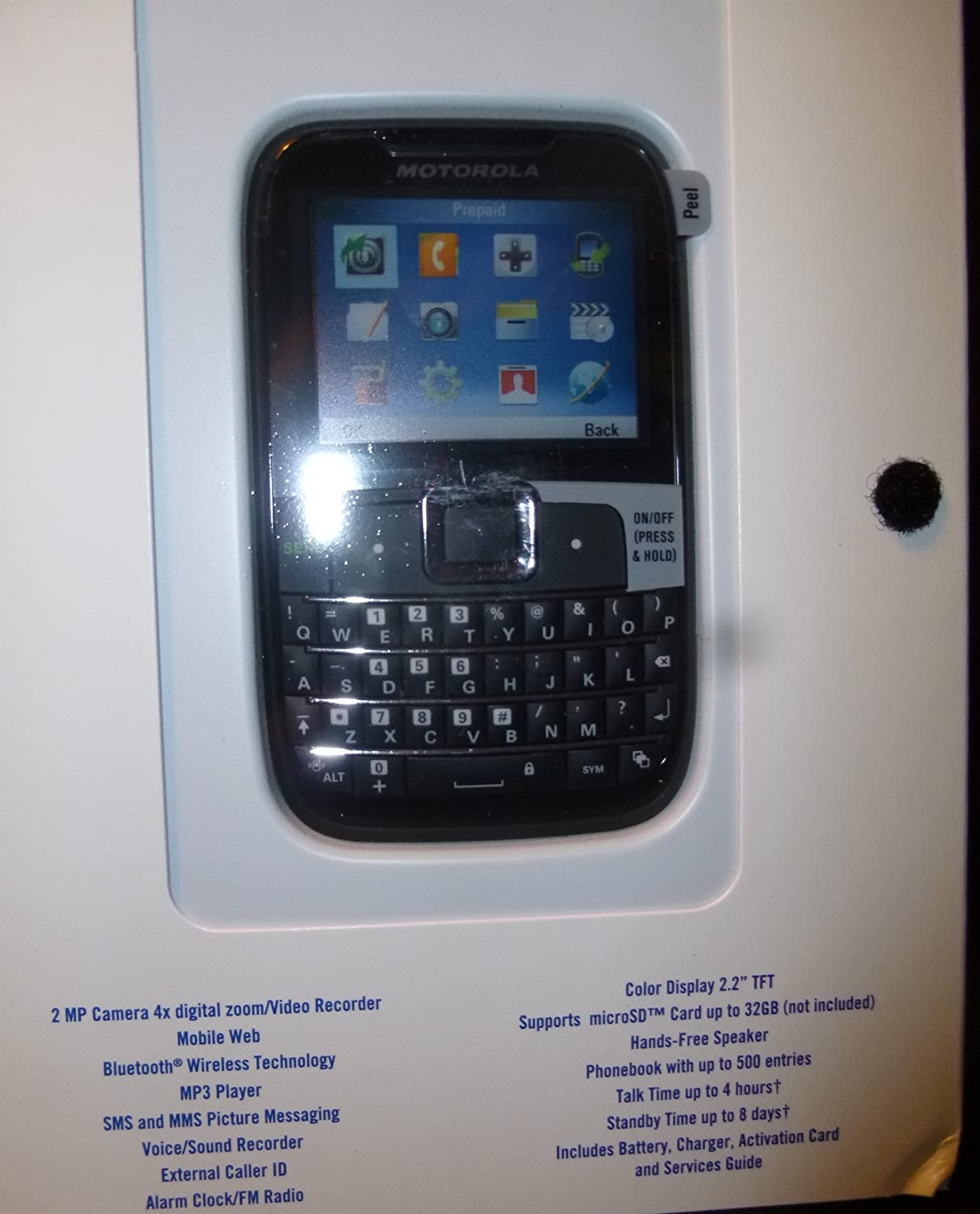 Amazon.com: Motorola EX431G Prepaid Phone With Triple Minutes (Tracfone):  Cell Phones & Accessories