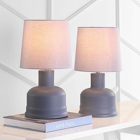 Safavieh Tbl4105a Set2 Home Collection Dahlia Dark Grey Table Lamp