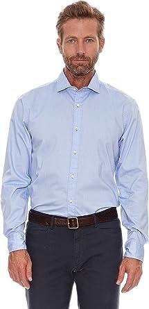 Cortefiel Camisa Spread Azul M: Amazon.es: Ropa y accesorios