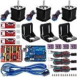 Longruner For Arduino Professional 3D printer CNC Kit, GRBL CNC Shield +UNO R3 Board+RAMPS 1.4 Mechanical Switch Endstop+DRV8825 A4988 GRBL Stepper Motor Driver with heat sink+Nema 17 Stepper Motor