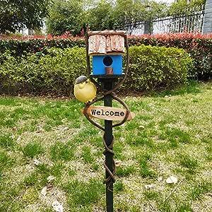 Casas para Pájaros La alimentación de madera for pájaros del jardín Birdhouse protegido de extensión portátil Independientes Alimentación Tabla estación de la casa del pájaro Casita para Pájaros: Amazon.es: Hogar
