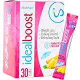 IdealBoost, Weight Loss Drink Mix Packets, Pineapple Passion, w/Hunger Blocking and Energy Blends, 30 Servings…