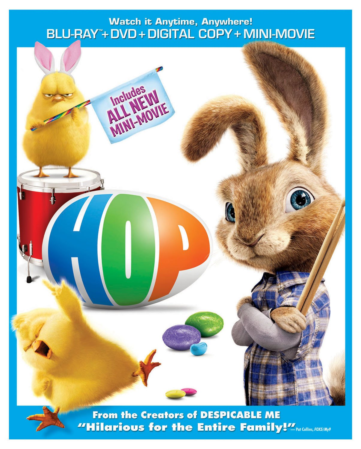 Blu-ray : Hop (With DVD, Snap Case, Digitally Mastered in HD, 2 Pack, With Movie Cash)