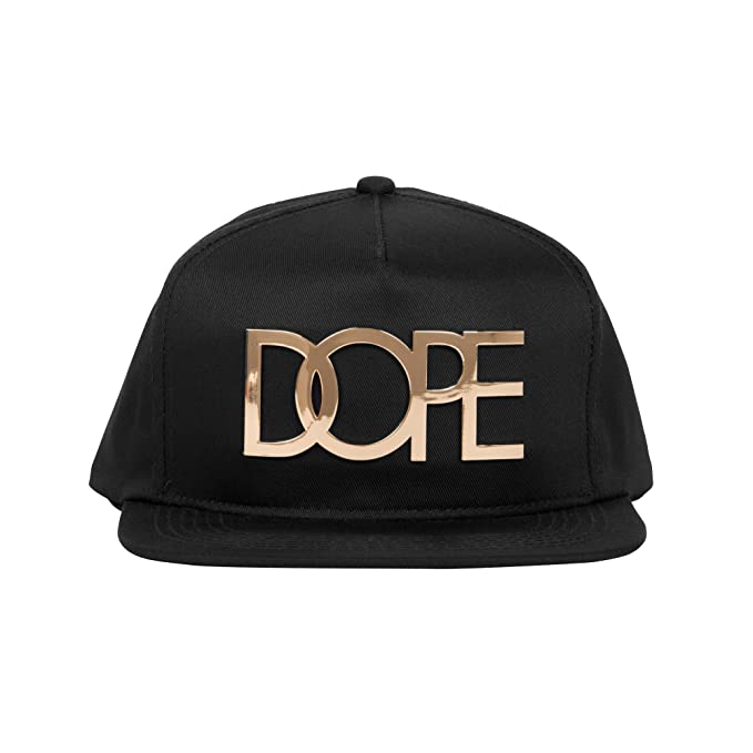 DOPE 24K Gold Logo Snapback Hat One Size Black at Amazon Men s ... 12d76671fb1