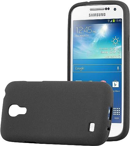 Cadorabo Coque pour Samsung Galaxy S4 Mini en Frost Noir - Housse Protection Souple en Silicone TPU avec Anti-Choc et Anti-Rayures - Ultra Slim Fin ...