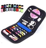 MARZ Products Deluxe Sewing Kit Bundle with Scissors, Pearl Needle, Thread, Needles, Tape Measure, Carrying Case and Accessories for Domestic/Travel