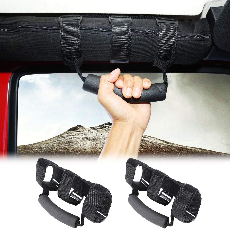 Voodonala Rool Bar Grab Handles Grip Handle for Jeep Wrangler TJ JK JKU JL /& Gladiator JT 1955-2020 2pcs