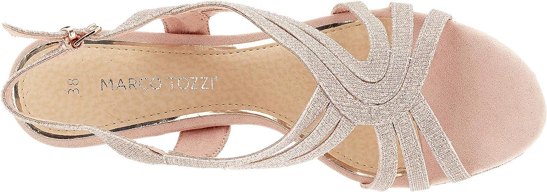MARCO TOZZI 2-2-28329-34, Sandali a Punta Chiusa Donna Rosa Rose Metallic 592