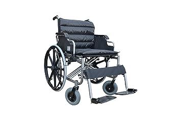 POLIRONESHOP THIRA Silla de ruedas plegable bariátrica autopropulsable