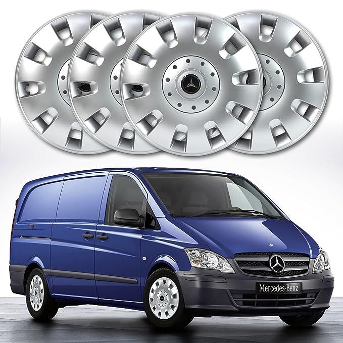16 plata sólido abs rueda Juego de tapacubos (4 unidades): Amazon.es: Coche y moto