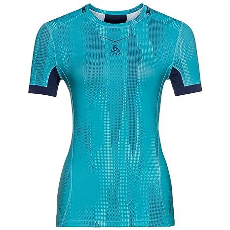 Odlo Crew Neck ceramicool Pro - Camiseta Interior - Blue Radiance/Peacoat