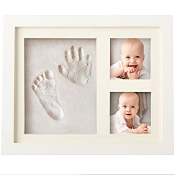 Amazoncom Bubzi Co Baby Handprint Kit Footprint Photo Frame For