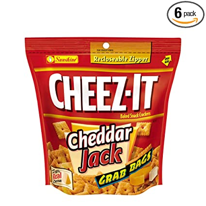 cheez-it Baked Snack galletas saladas, Cheddar Jack, 7-ounce ...