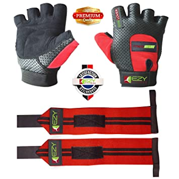 Crossfit/Weightlifting Gloves (1 Pair) With Wrist Wraps & Hand Grip Pads (