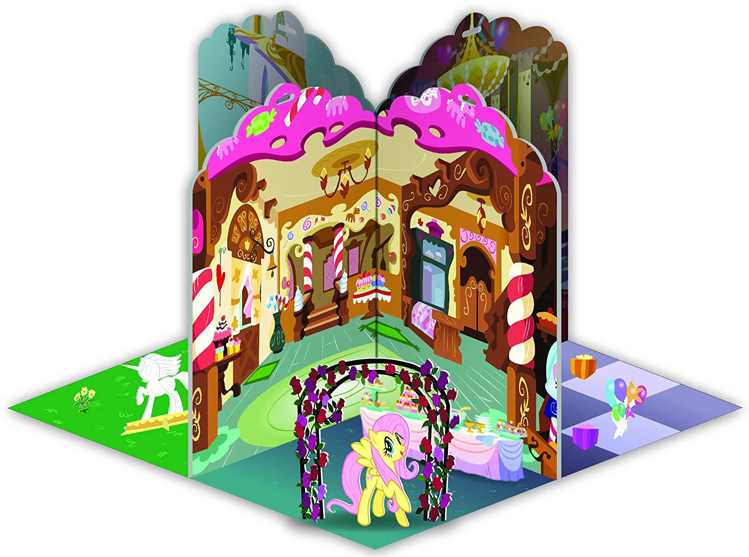 My Little Pony 3D Ponyville Pop-Up Book by My Little Pony (English Manual)