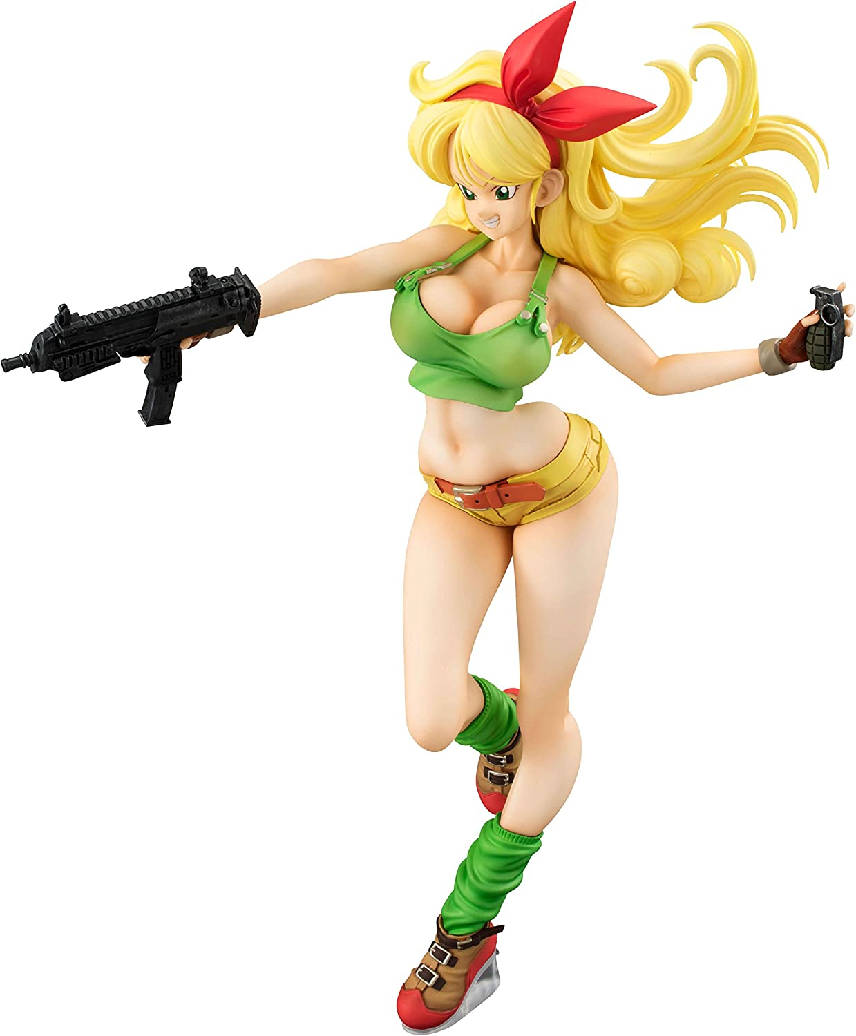 19cm PVC/&ABS NEW F//S MegaHouse Dragon Ball Gals Figure Lunch Gold hair ver