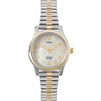 4d8f17b6e Timex Women's T2M828 Essex Avenue Two-Tone Stainless Steel Expansion Band  Watch