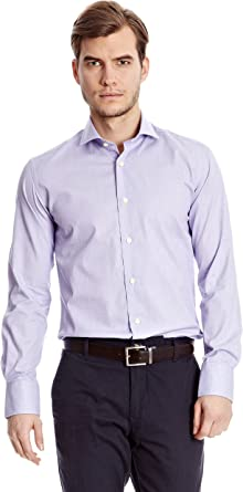 Sacoor Brothers Camisa Hombre Pyracantha Lila 38 cm (15 ...