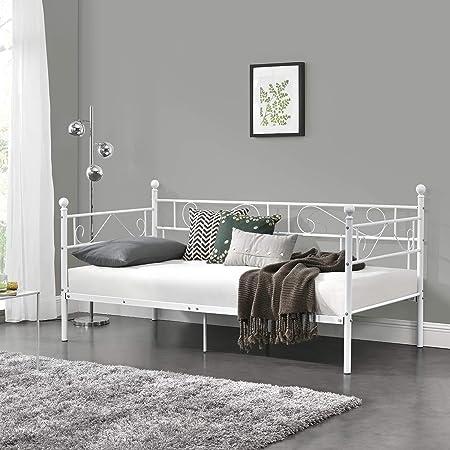 Nuestro sofá de metal tiene gran éxito gracias a su multifuncionalidad.,Color: blanco - Material: Es