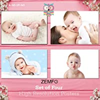 Zemfo Cute Baby Combo Poster Set of 4 Posters | Baby Poster | Beautiful Baby Poster | New Born Baby Poster | Poster for Pregnant Women