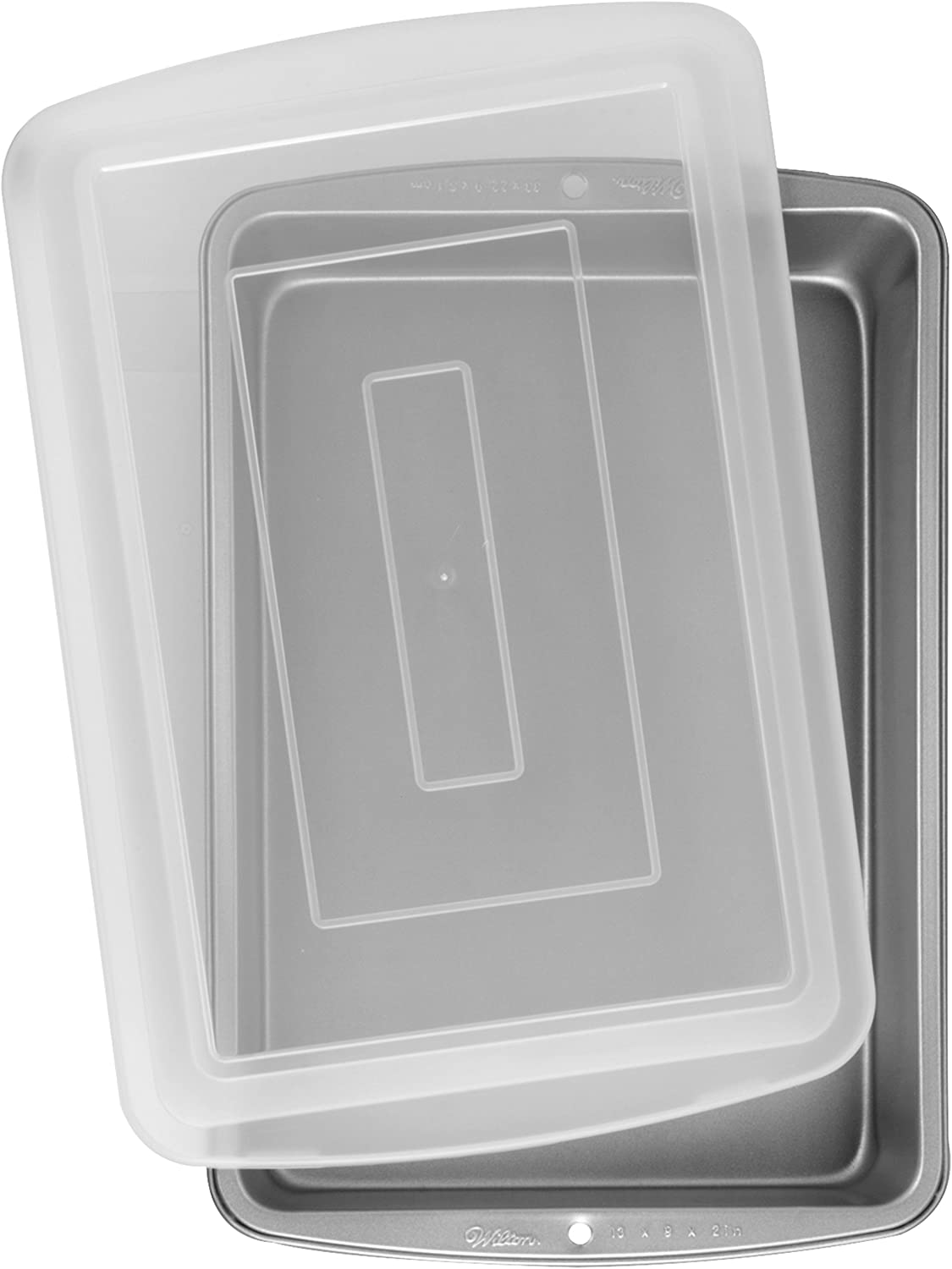 Wilton Recipe Right - Molde rectangular con tapa, 33 x 22.8 x 5 cm