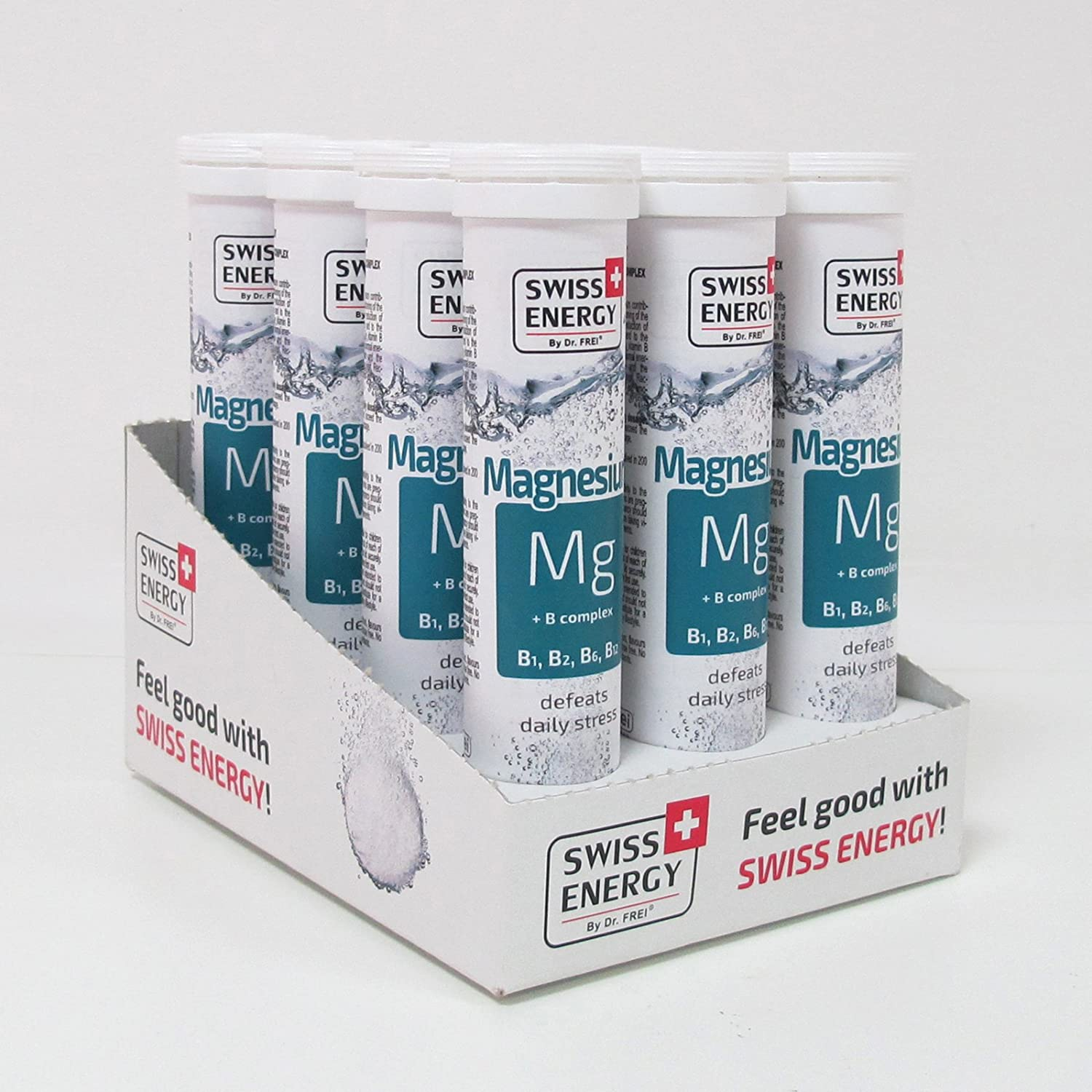 Amazon.com: Swiss Energy Magnesium + B Complex Effervescent (20 Tablets): Health & Personal Care