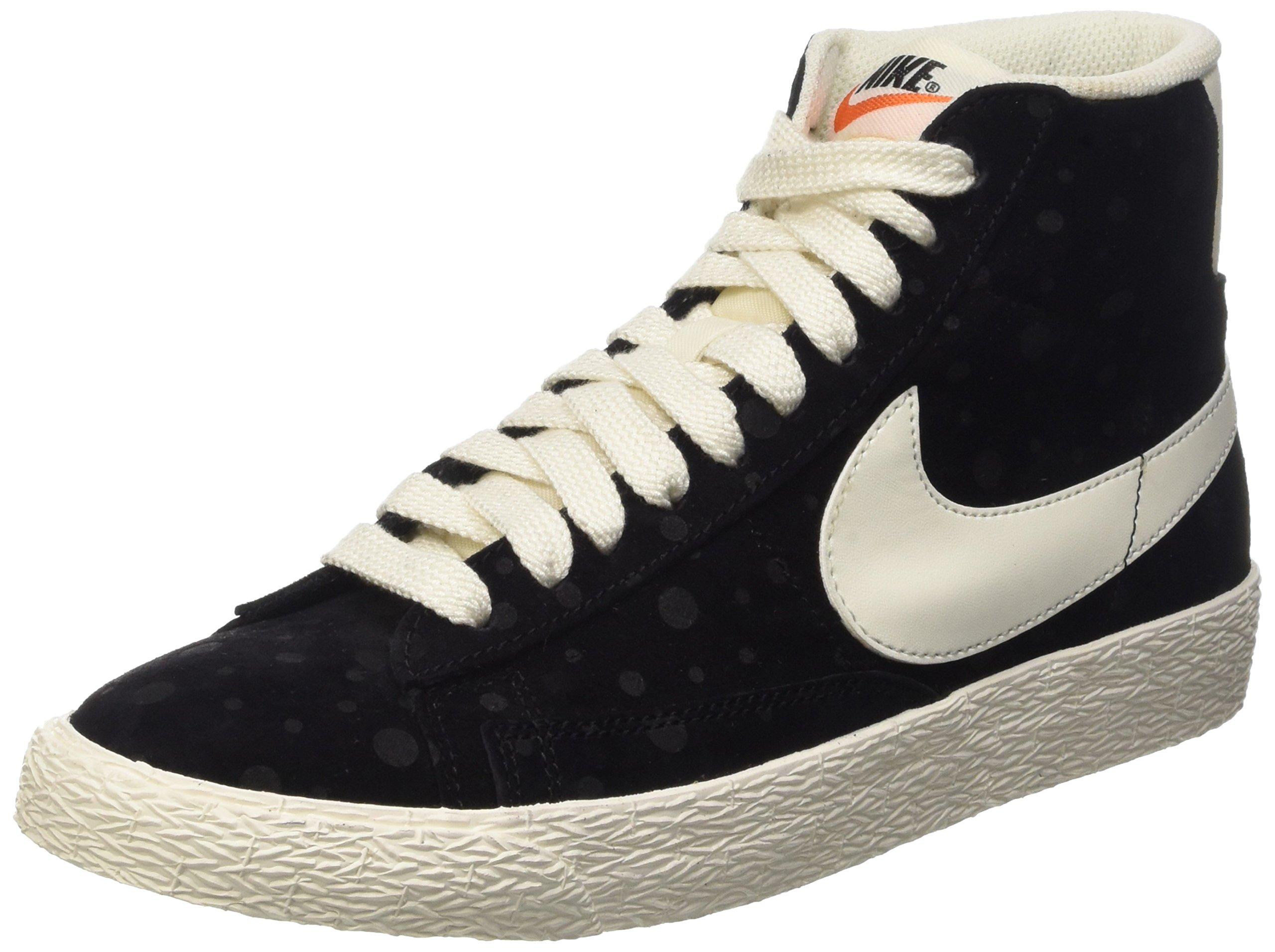 Nike Women's Blazer Mid Suede Vintage Black/White 518171-015 (SIZE: 8) by NIKE (Image #1)