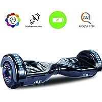 """Dartjet 6.5"""" Smart Self-Balancing Hoverboard, UL-2272 Certified, Build-in Bluetooth Speaker, Illuminated Colorful LED Wheels, LED Fender & Front Lights"""