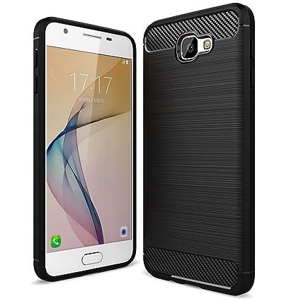 wholesale dealer 669af cef54 Bracevor Back Case Cover for Galaxy J7 Prime / On7 2016 / On Nxt / On7  Prime   Flexible TPU   Brushed Texture - Black