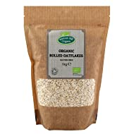 Organic Rolled Oat Flakes 1kg (Gluten Free) Hatton Hill Organic - Free UK Delivery