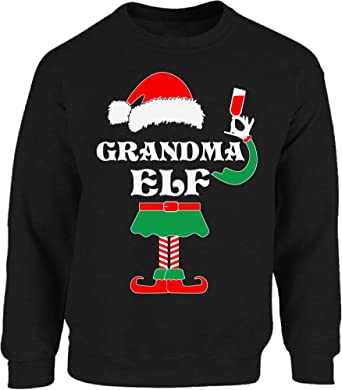 UGLY CHRISTMAS Sweater Elf Santa Reindeer Men Women HOODIE Red SnowMan Scarf