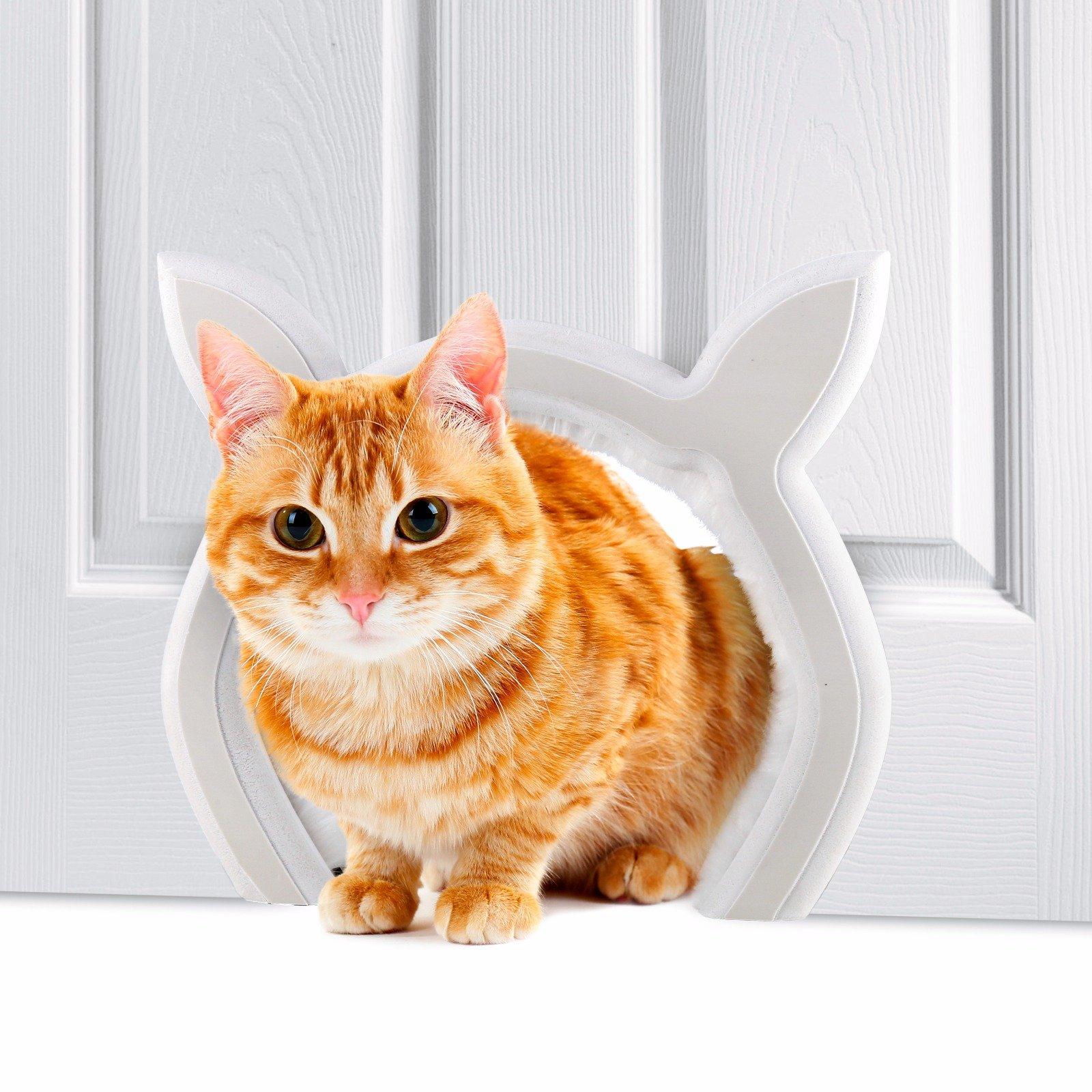 Prouder Pet Interior Cat Door Fits Most Standard Door Sizes Safe